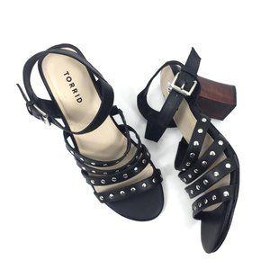 Torrid Size 9.5 Studded Cage Heel Sandals